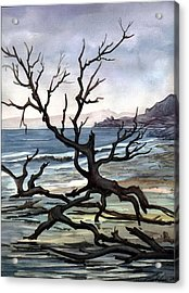 Acrylic Print featuring the painting Dead Sea Inhabitant by Mikhail Savchenko