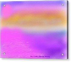 Acrylic Print featuring the digital art Dead Sea .morning by Dr Loifer Vladimir