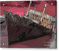 Dead Ship 3 Acrylic Print by Gustavo Mazzoni