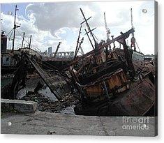 Dead Ship 4 Acrylic Print by Gustavo Mazzoni