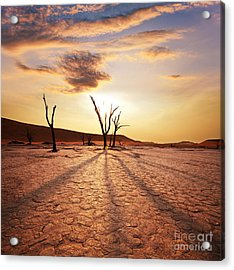 Dead Valley Area Acrylic Print by Boon Mee
