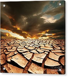 Dead Valley Land Acrylic Print by Boon Mee