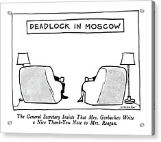 Deadlock In Moscow The General Secretary Insists Acrylic Print by James Stevenson