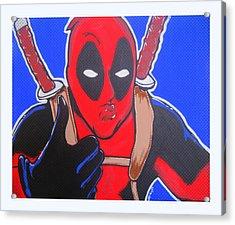 Deadpool Duckface Selfie Acrylic Print by Gary Niles