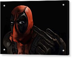 Deadpool Acrylic Print by Jeff DOttavio