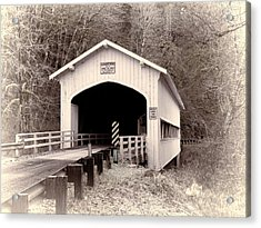 Deadwood Covered Bridge Acrylic Print