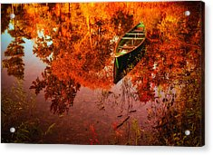 Deagol's Dinghy Acrylic Print by Roger Chenery