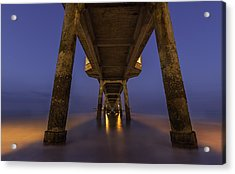 Deal Pier At Night Acrylic Print
