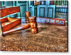 Dealing Justice Acrylic Print