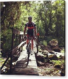 Deamon Biker Acrylic Print