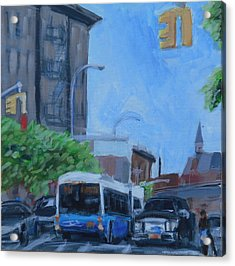 Acrylic Print featuring the painting Dean St And Nostrand Ave by Tu-Kwon Thomas
