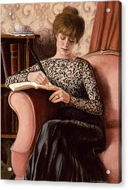 Acrylic Print featuring the painting Dear Diary by Sue Halstenberg