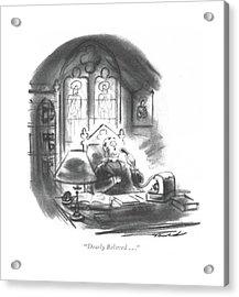 Dearly Beloved Acrylic Print by Leonard Dove