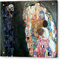 Death And Life Acrylic Print by Gustive Klimt