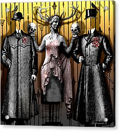 Death And The Maiden Acrylic Print by Larry Butterworth