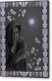 Death Crone Acrylic Print by Diana Perfect