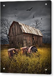 Death Of A Small Midwest Farm Acrylic Print by Randall Nyhof