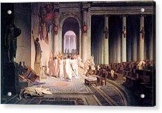 Death Of Caesar Acrylic Print by Jean Leon Gerome