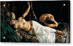 Death Of Cleopatra Acrylic Print by Achilles Glisenti