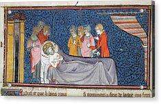 Death Of King Louis Ix Acrylic Print
