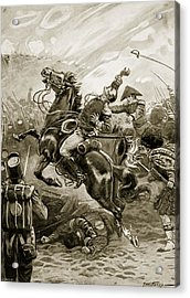 Death Of Sir Edward Pakenham Acrylic Print by Paul Hardy