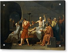 Death Of Socrates Acrylic Print