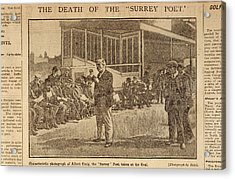 Death Of The Surrey Poet Acrylic Print by British Library