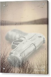 Death On Solid Water Acrylic Print by Edward Fielding