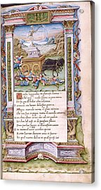 Death Acrylic Print by Renaissance And Medieval Manuscripts Collection/new York Public Library