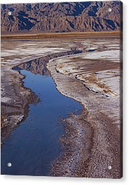 Death Valley Salt Stream 1 Acrylic Print