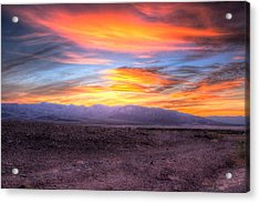 Death Valley Sunset Acrylic Print by Heidi Smith