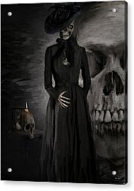 Deathly Grace Acrylic Print by Lourry Legarde