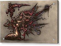 Death's Angel Acrylic Print by David Bollt