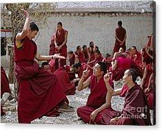 Debating Monks - Sera Monastery Lhasa Acrylic Print by Craig Lovell