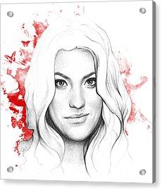 Debra Morgan - Dexter Acrylic Print by Olga Shvartsur