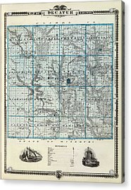 Decatur County Map Acrylic Print by Gianfranco Weiss