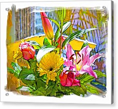 December Flowers Acrylic Print by Chuck Staley