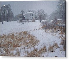 December Acrylic Print by Joy Nichols
