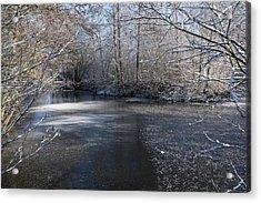 December Lake Acrylic Print by Svetlana Sewell