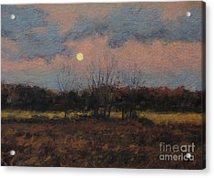 December Moon Acrylic Print by Gregory Arnett