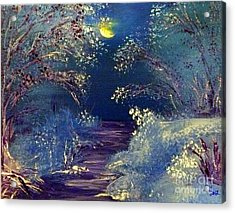 December Night Acrylic Print by Alys Caviness-Gober
