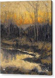December Reflection Acrylic Print by Gregory Arnett