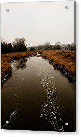 December River Acrylic Print by BandC  Photography