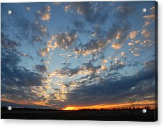 Acrylic Print featuring the photograph December Sunset by Susan D Moody