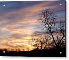 December Sunset Acrylic Print