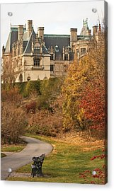 December Walk At The Biltmore Acrylic Print by Tammy Schneider
