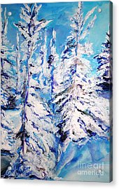 December's Solitude Acrylic Print by Helena Bebirian
