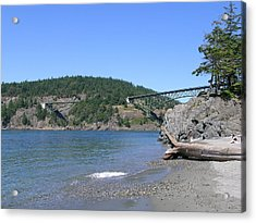 Deception Pass Bridge II Acrylic Print by Mary Gaines