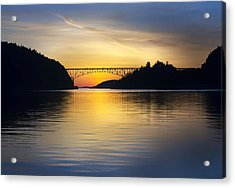 Acrylic Print featuring the photograph Deception Pass Bridge by Sonya Lang