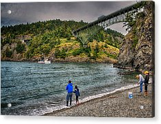 Deception Pass Acrylic Print by Kelly Reber